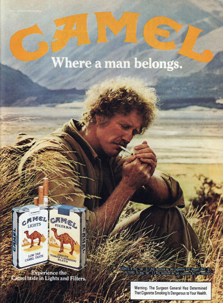 Camel Cigarettes. Advertising in 1983
